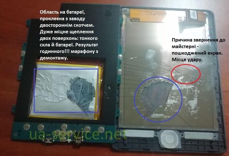 Пошкоджений екран електронної книги