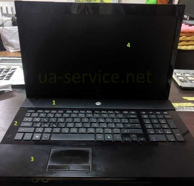 порядок демонтажу деталей HP Probook 4710s