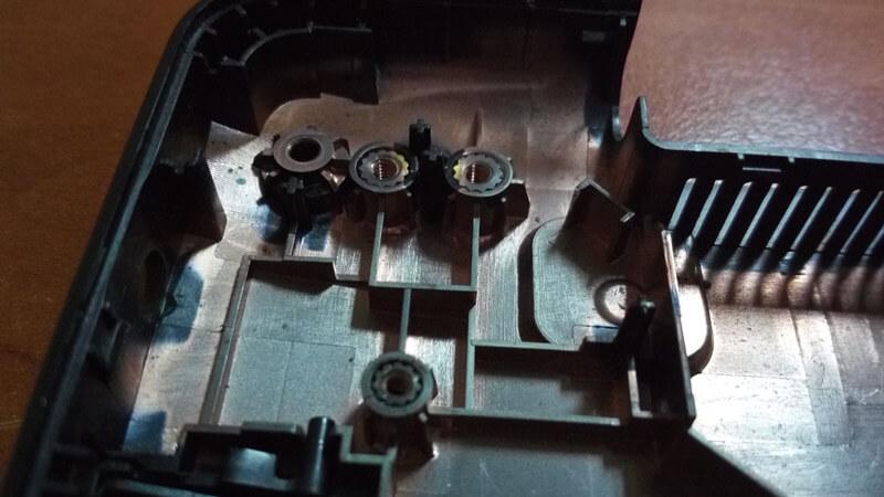 Кріпильні втулки нижнього корпусу Asus X553m